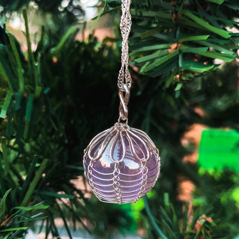 Angel Aura Wire Wrapped Pendant - For the Love of Natural Living, LLC