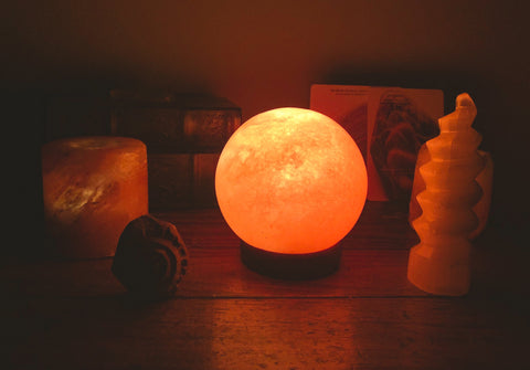 Sphere Himalayan Salt Lamp - For the Love of Natural Living, LLC