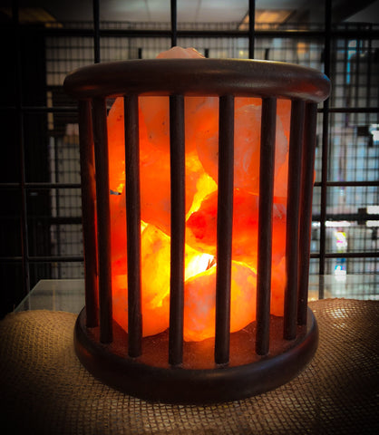 Himalayan Salt Lamp Feng Shui Rosewood Basket - For the Love of Natural Living, LLC