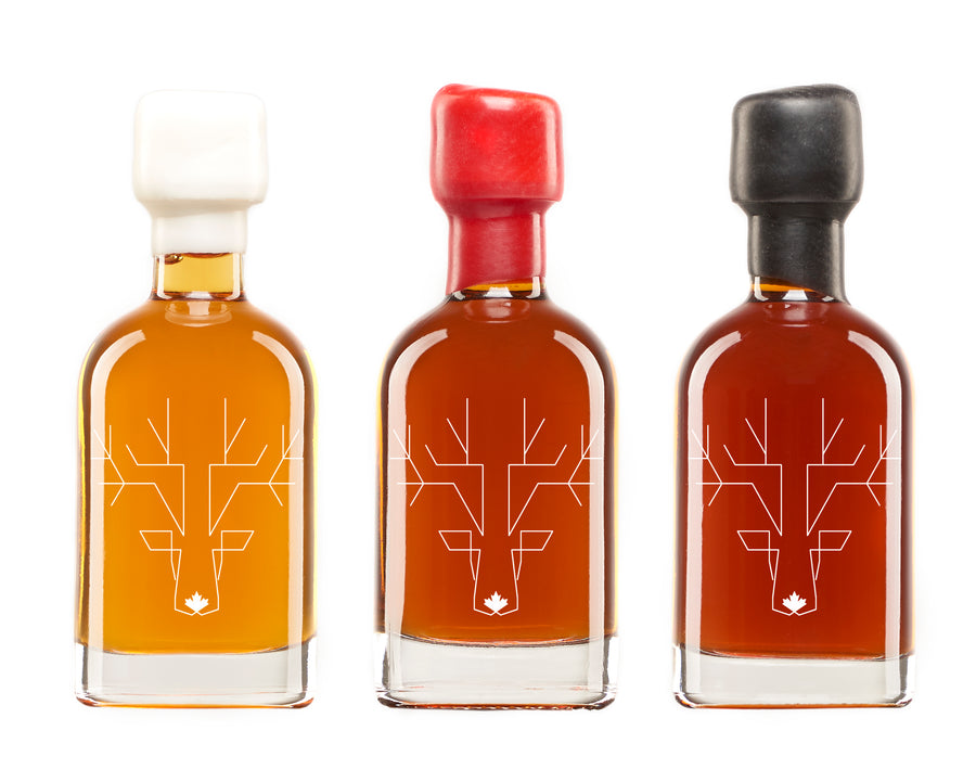 Escuminac pure Canadian Maple Syrup - Gift Pack Sampler (3 x 50 ml)