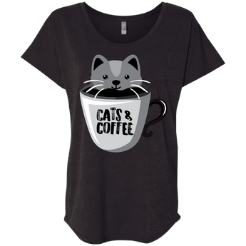 Cats & Coffee-Women's Tee
