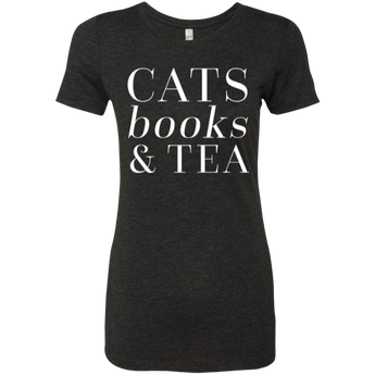 Cats Books & Tea -Women's Tee
