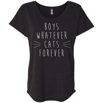 Boys Whatever Cats Forever-Women's Tee