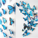 Butterfly Magnet 3D Wall Stickers 12PCS