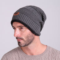 Fur Warm Baggy Wool Knitted Beanie Hat