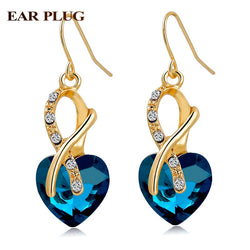 Gold Plated Cubic Zirconia Drop Earrings