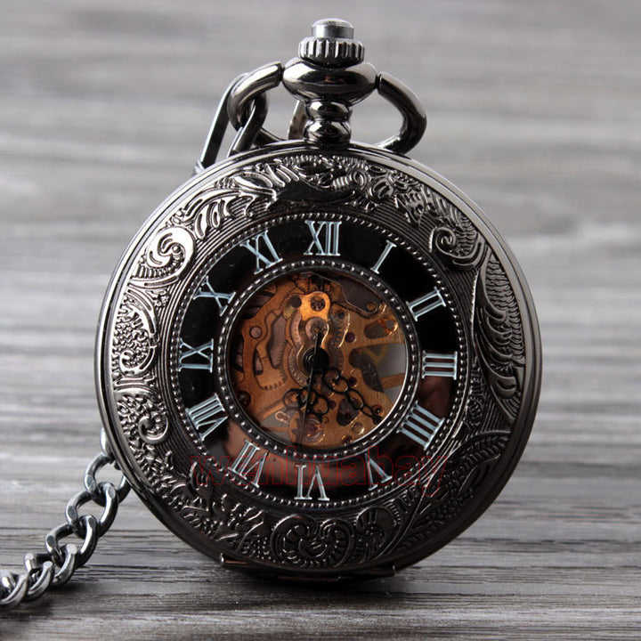 Rome Style Hand Wind Pocket Watch