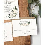 Rustic Floral Wedding Invitation, Vintage Wedding
