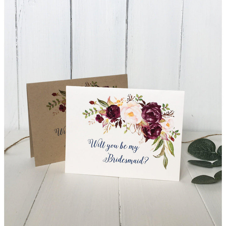 Marsala, Will You be My Bridesmaid?-Bridesmaid Proposal-Love of Creating Design Co.