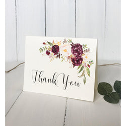 Marsala Wedding Thank You Card