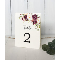 Marsala Table numbers