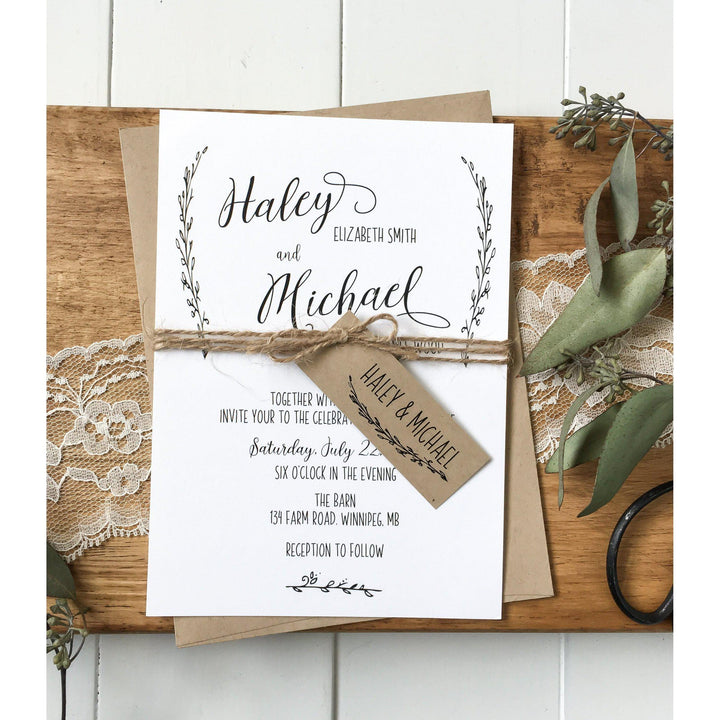 Modern Rustic-Wedding Invitation Suite-Love of Creating Design Co.