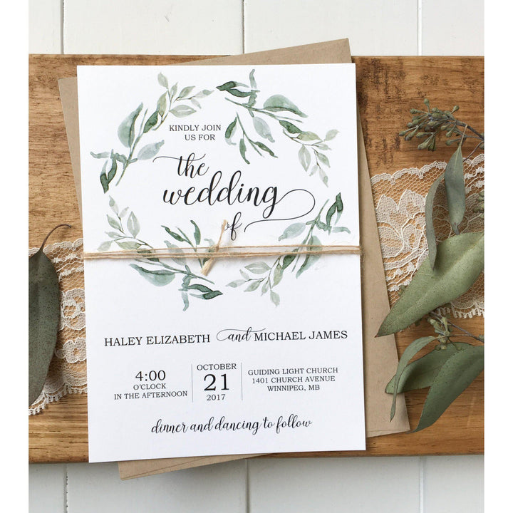 modern wedding invitation rustic chic love of creating design co