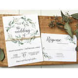 Modern Wedding Invitation, Rustic Chic-Wedding Invitation Suite-Love of Creating Design Co.