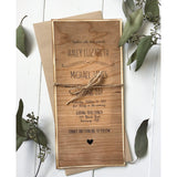 Distressed Wood-Wedding Invitation Suite-Love of Creating Design Co.