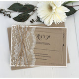 Vintage Lace, Rustic Kraft-Wedding Invitation Suite-Love of Creating Design Co.