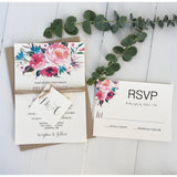 Modern Floral-Wedding Invitation Suite-Love of Creating Design Co.