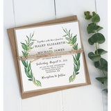Modern Greenery Table numbers-Table Numbers-Love of Creating Design Co.