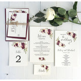 Marsala Table numbers-Table Numbers-Love of Creating Design Co.