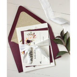Rustic Marsala Elegant Wedding Invitation-Wedding Invitation Suite-Love of Creating Design Co.