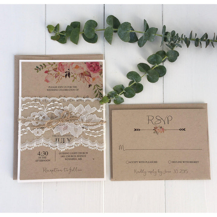 The Vanessa Suite | Lace-Wedding Invitation Suite-Love of Creating Design Co.