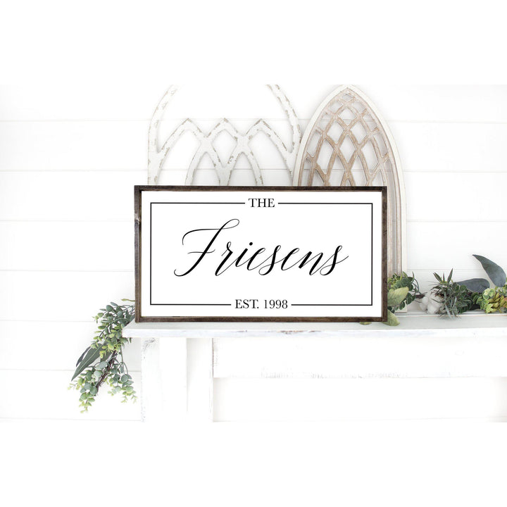 Established Family Wood Sign