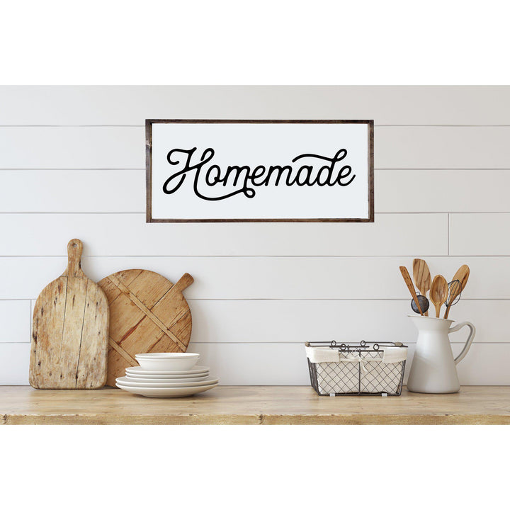 Homemade Kitchen Wood Sign