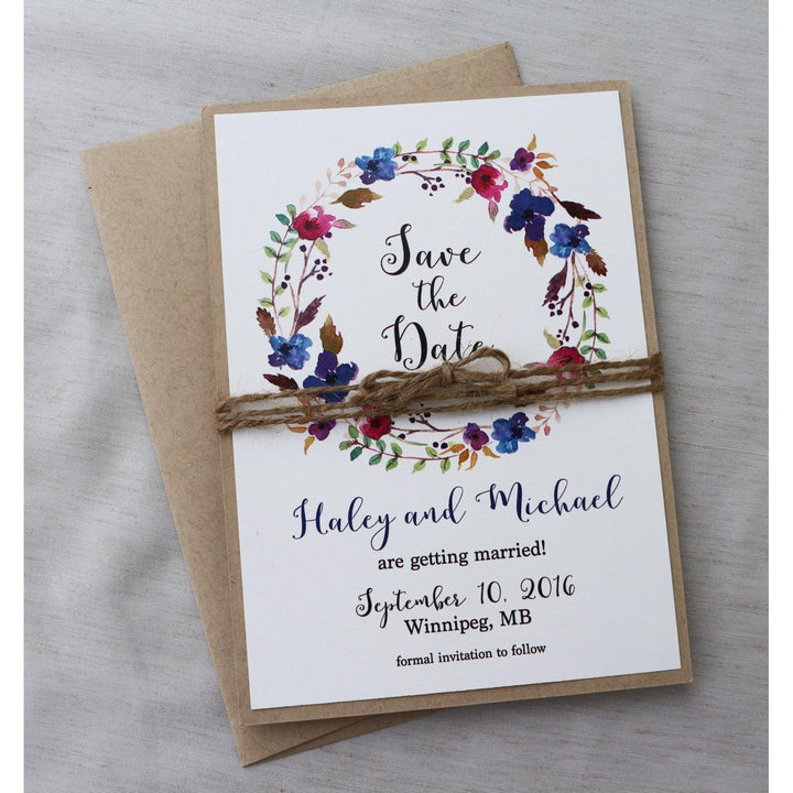 Watercolor Floral-Save the Date-Love of Creating Design Co.
