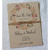 Boho Floral Save the Date, Rustic Chic-Save the Date-Love of Creating Design Co.