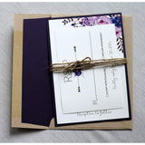 Purple Blooms-Wedding Invitation Suite-Love of Creating Design Co.