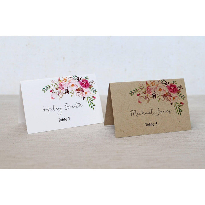 Boho Rustic Floral-Place Cards-Love of Creating Design Co.
