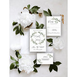 Rustic Wedding Invitation with Greenery