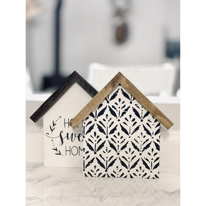 House Shaped Wood Signs