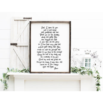 Custom Prayer, Office Prayer Wooden Sign