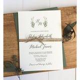 Greenery Wedding Invitation-Wedding Invitation Suite-Love of Creating Design Co.