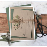 Rustic Greenery, Kraft Wedding Invitation-Wedding Invitation Suite-Love of Creating Design Co.