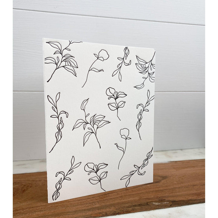 Letterpress Botanical Greeting Card