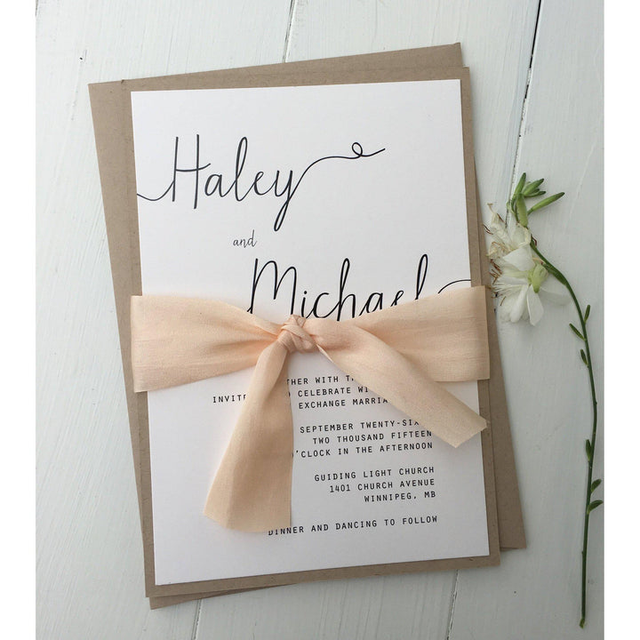 Simply Modern-Wedding Invitation Suite-Love of Creating Design Co.