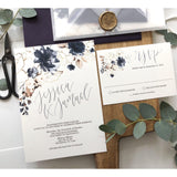 Purple Floral Vellum Wedding Invitation