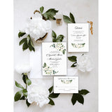 Elegant White Floral Wedding Invitation