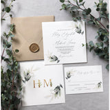 Greenery Botanical Garden Wedding Invitation