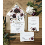 burgundy rudtic wedding