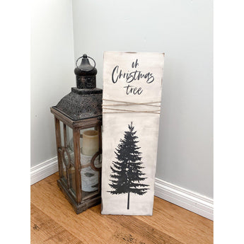 Oh Christmas Tree Holiday Wood Sign