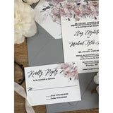 Floral Letterpress Wedding Invitation