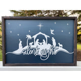 Christmas Wood Sign, Silent Night