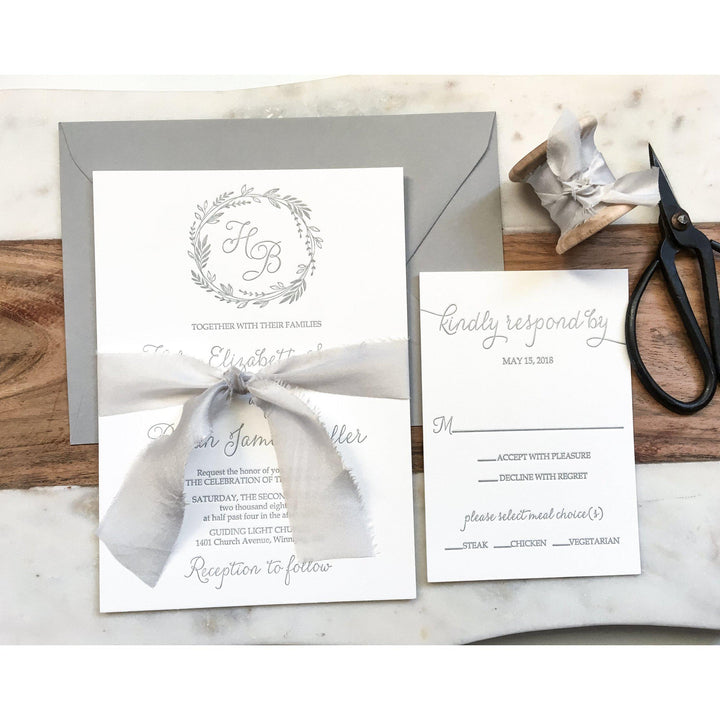 Elegant Wedding Invitation, Letterpress