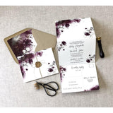 Elegant Floral Wedding Invitation with Wax seal