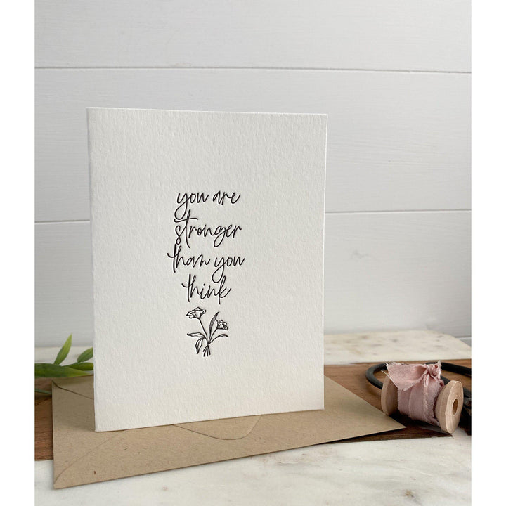 You are Stronger Than You Think | Greeting Card