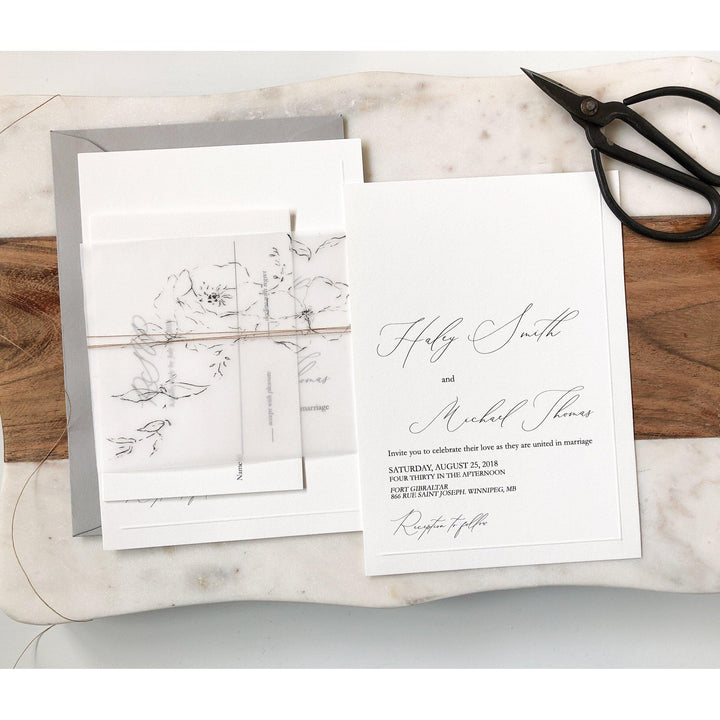Vellum, Modern Simple Wedding Invitation