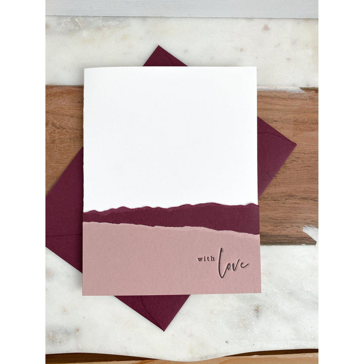 With Love Letterpress Greeting Card